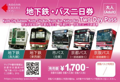 地下鉄バス2日乗車券